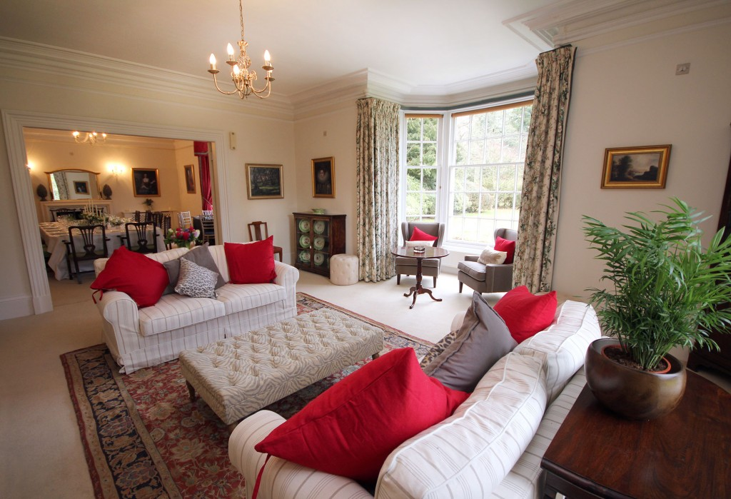 Drawing room through to the dining room